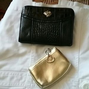 Never used Brighton wallet and bonus change pouch